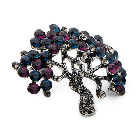 Rhinestone Tree Brooch