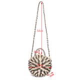 Striped Rattan Handbag