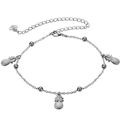 Pineapple Trio Anklet