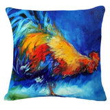 """Roosters"" Pillow Covers"