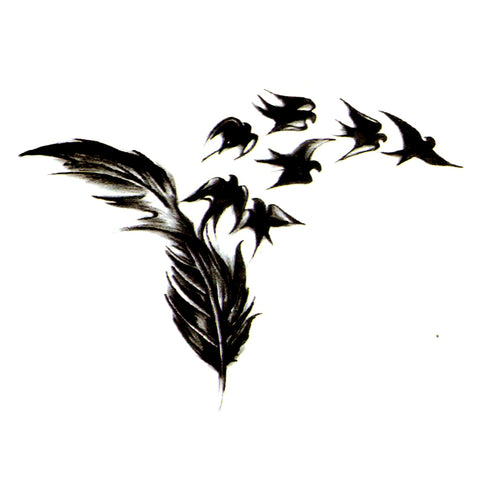 Swallow Temporary Tattoos