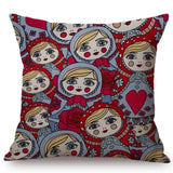 Matryoshka Russian Doll  Pillow Cover