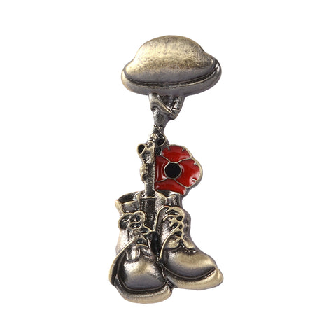 UK Remembrance Day Veteran Soldier Brooch