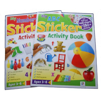 My ABC / My Numbers Sticker Activity Books