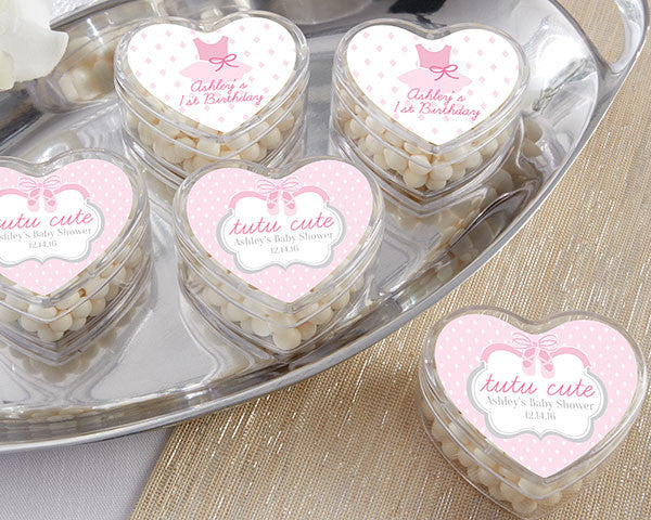 Heart Favor Container - Tutu Cute (Set of 12)