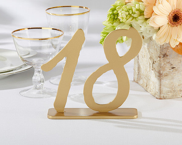 """Good As Gold"" Classic Table Numbers (13-18)"