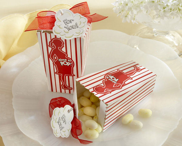 """About to Pop!"" Popcorn Favor Box (Set of 24)"