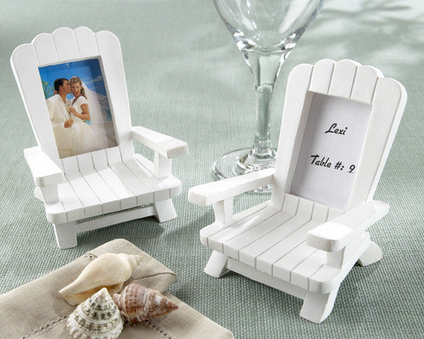 """Beach Memories""  Miniature Adirondack Chair Place Card/Photo Frame (Set of 4)"