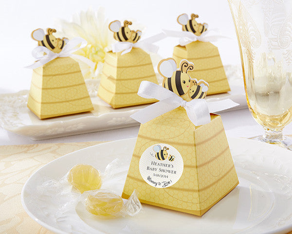 """Sweet as Can Bee!"" Mom and Baby Beehive Favor Box (Set of 24)"