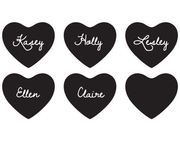 Chalk Heart Stickers (Set of 12)