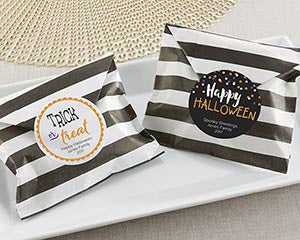 Striped Paper Favor Bags - Halloween (Set of 25)