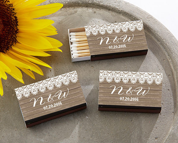 Personalized Black Matchboxes - Country (Set of 50)