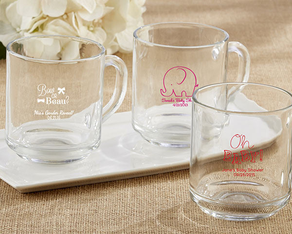 """Rise and Shine""  Glass Coffee Mug - Baby"