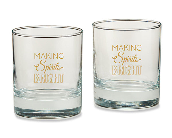 Making Spirits Bright 9 oz. Rocks Glass (Set of 4)