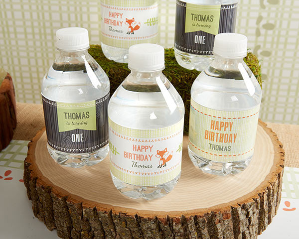 Personalized Water Bottle Labels - Kate's Rustic Birthday Collection