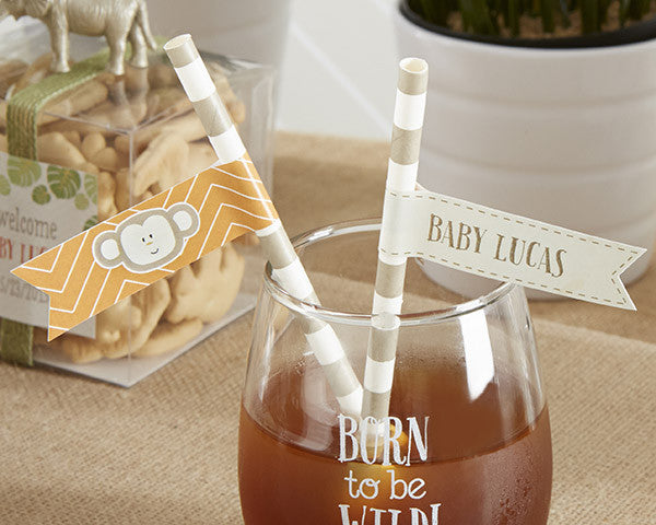 "Kate's ""Born to Be Wild"" Party Straw Flags"