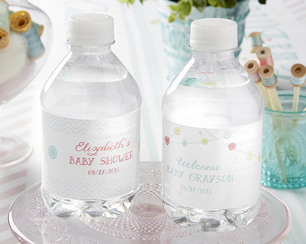 "Kate's ""Cute as a Button"" Personalized Water Labels"