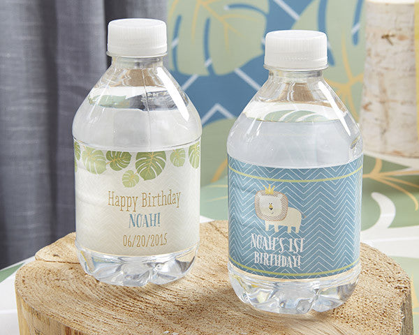 "Kate's ""King of The Jungle"" Personalized Water Labels"