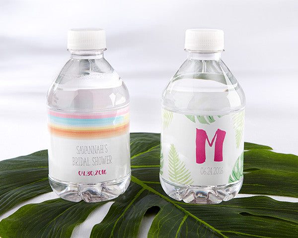 Personalized Water Bottle Labels - Pineapples and Palms