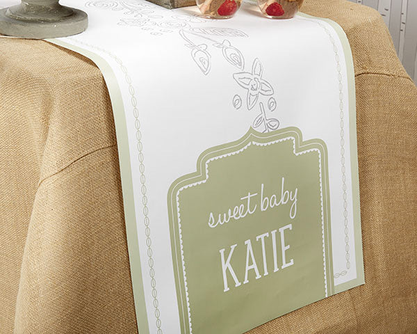 Personalized Table Runner - Kate's Rustic Baby Shower Collection (Multiple Sizes Available)
