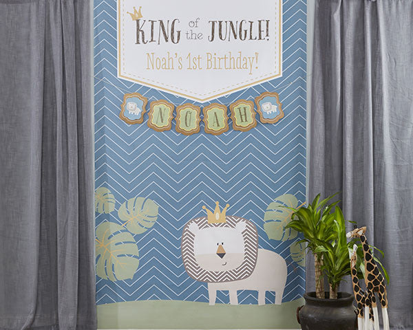 "Kate's ""King of The Jungle"" Personalized Photo Backdrop"