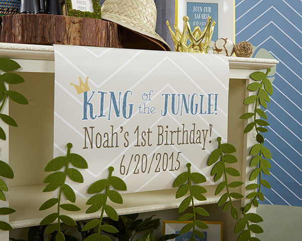 "Kate's ""King of The Jungle"" Personalized Palm Leaves Table Runner (Multiple Sizes Available)"