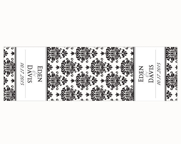 Personalized Damask Table Runner (Multiple Sizes Available)