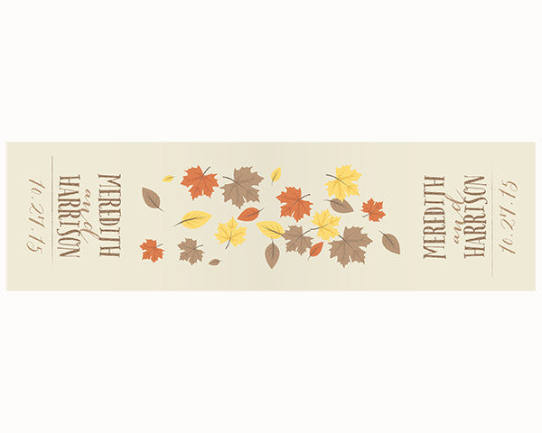 Personalized Fall Table Runner - Leaves  (Multiple Sizes Available)