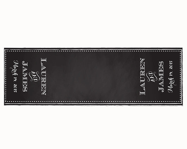 Personalized Chalkboard Table Runner - Beaded Frame (Multiple Sizes Available)