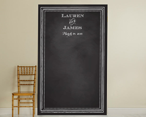 Personalized Chalkboard Backdrop - Beaded Frame