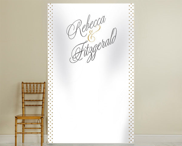 Personalized Photo Backdrop - Classic Grand Script