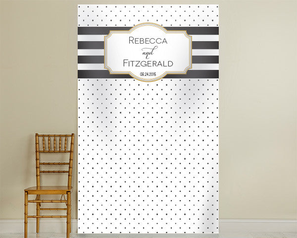 Personalized Photo Backdrop - Classic Bold Stripe