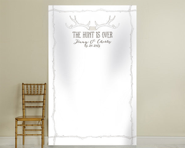 Personalized Photo Backdrop - The Hunt Is Over