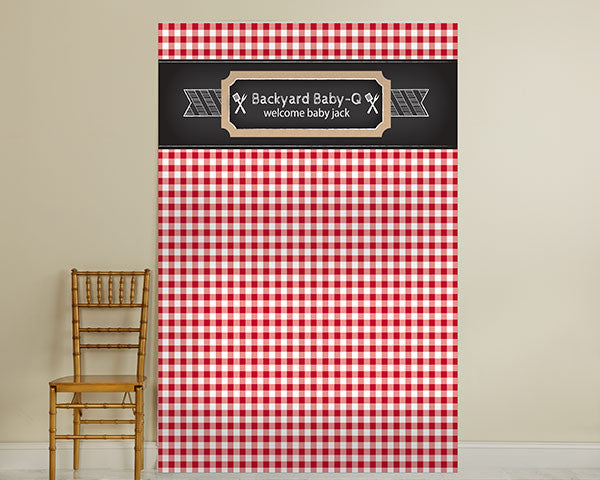 Personalized Photo Backdrop - BBQ