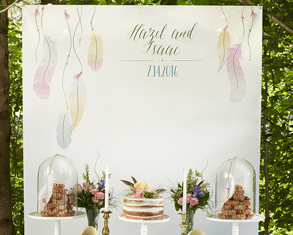 Personalized Photo Backdrop - Boho