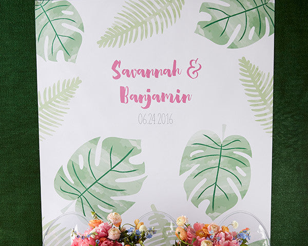 Personalized Pineapples and Palms Backdrop