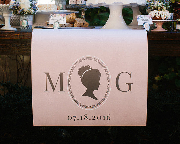 Personalized Table Runner - English Garden (Multiple Sizes Available)