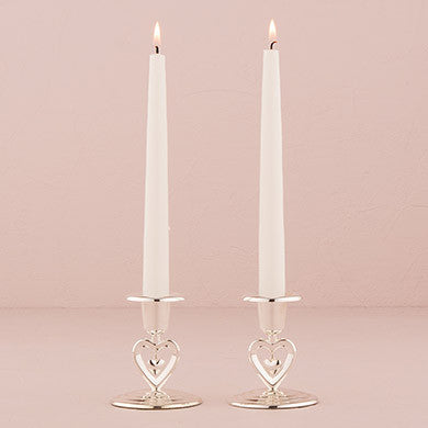 Suspended Heart Tapper Candle Holders (Set of 2)