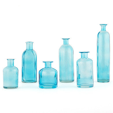Decorating Glass Bottle Set - Oasis Blue (Set of 6)