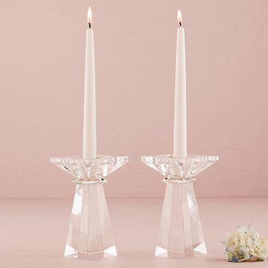 Dual Purpose Crystal Candle Holder - Low