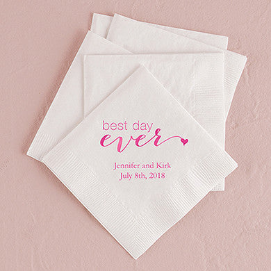"""Best Day Ever"" Printed Napkins"