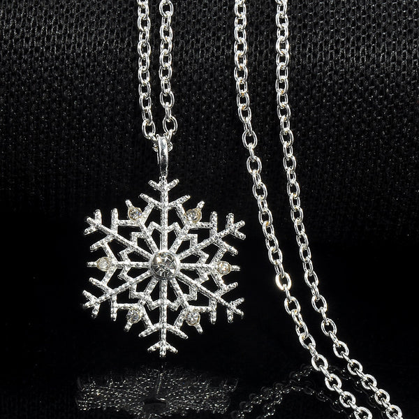 Crystal Snowflake Necklaces