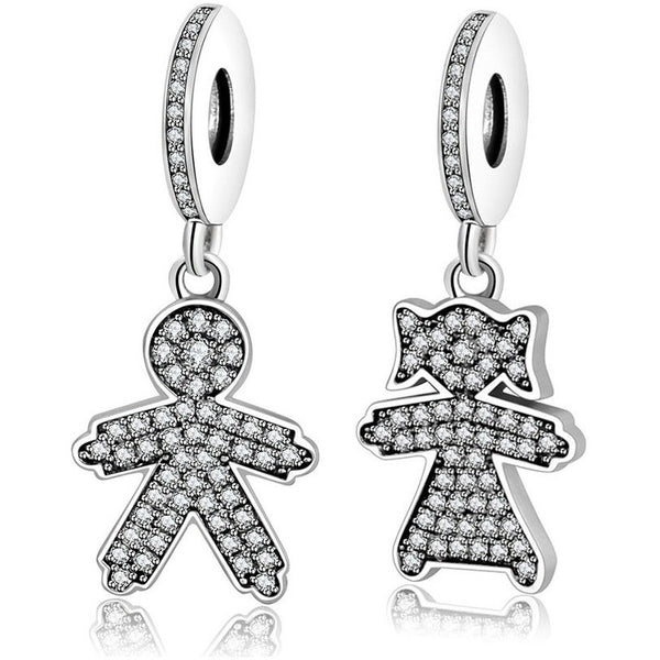 .925 Sterling Silver Boy Or Girl Charms