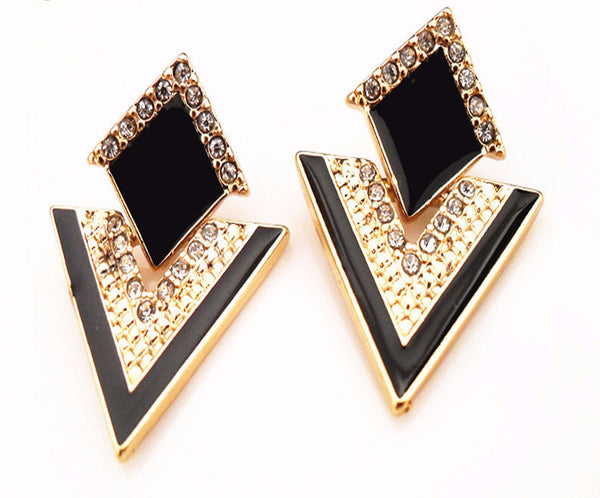 Big Black Stud Earrings