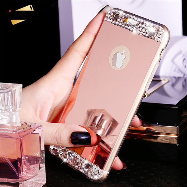 Luxury Diamond Mirror Case For iPhone and Samsung Galaxy
