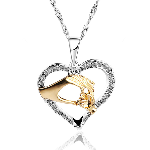 Mother and Baby Heart Pendant
