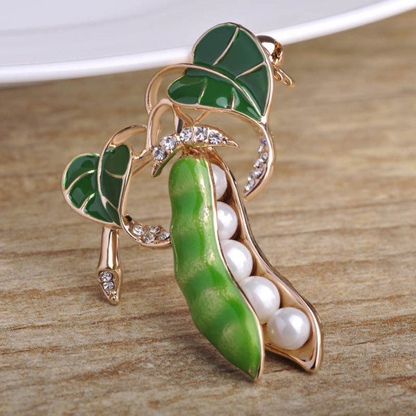 Enamel Green Pea  Pins
