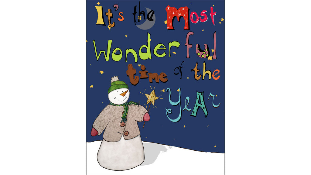 Winter Holiday Card - Bring Joy to the World -New Product