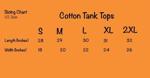Tank Tops - Size Chart - A TAD and MORE Designs