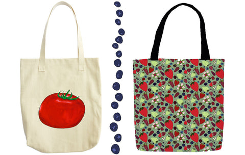 a tad and more tote bags